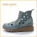 milla sports ミラスポーツ mi1032bu ロイヤルブルー 【どんどん歩けるラバーソール・・ダブルのジッパー・・milla sports・・穴穴アンクル】