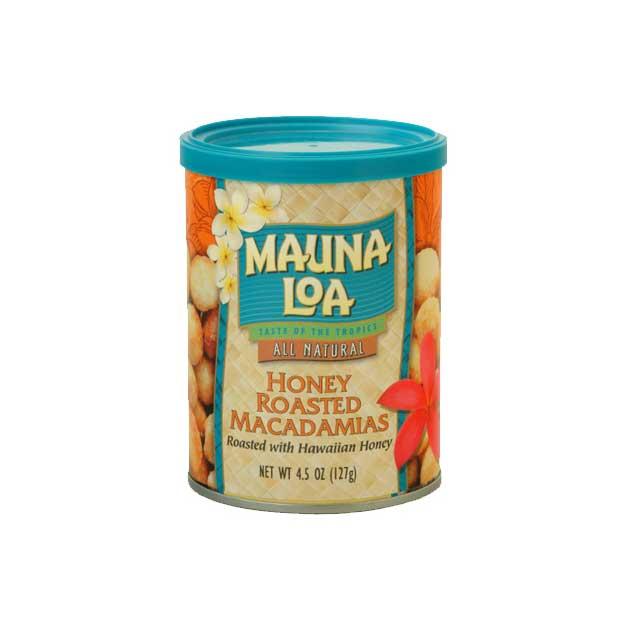 マウナロア ハニーローストマカデミアナッツ缶 127g