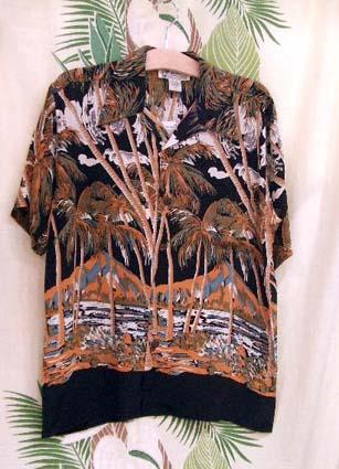 MensアロハシャツAvanti/Parm of Alohaブラック