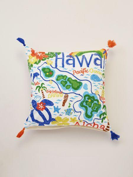 NEW!!】ハワイアンクッションカバーホヌ・ハワイアンマップ