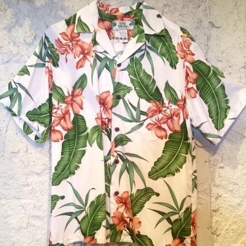 Mensアロハシャツ /ジンジャーシャドウWH/Sサイズ