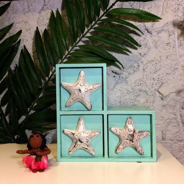 ハワイアンなデザイン/ スターフィッシュ3L字BOX【ハワイアン雑貨】