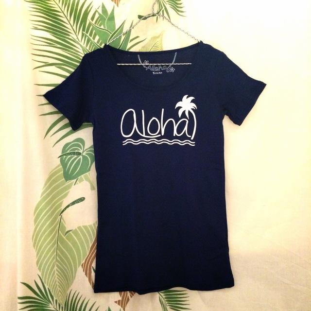 Hulaレッスンに!TシャツalohaT/Mサイズ・Lサイズ【ハワイアンショップ アロハラバーズ】