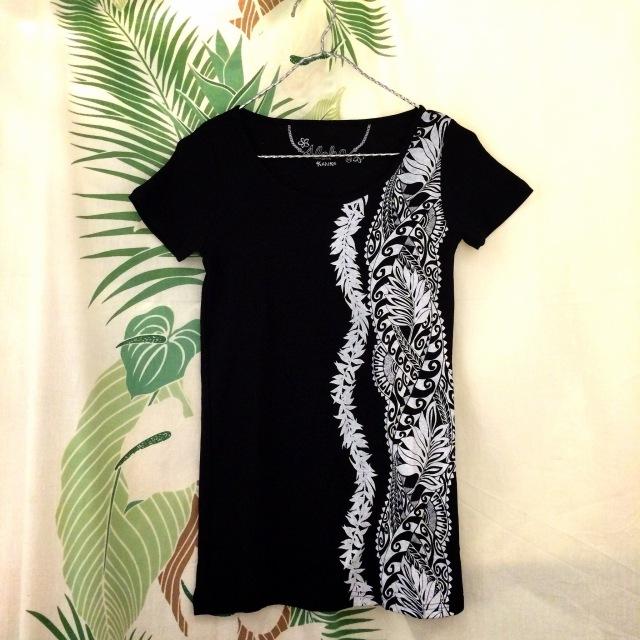Hulaレッスンに!TシャツタパフラT/Mサイズ・Lサイズ【ハワイアンショップ アロハラバーズ】