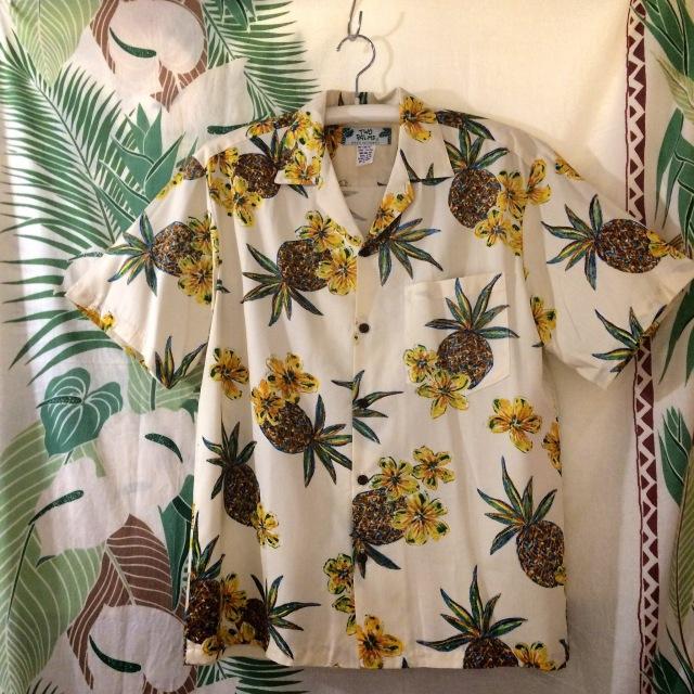 Mensアロハシャツ /パイナップルCR/Sサイズ/Mサイズ