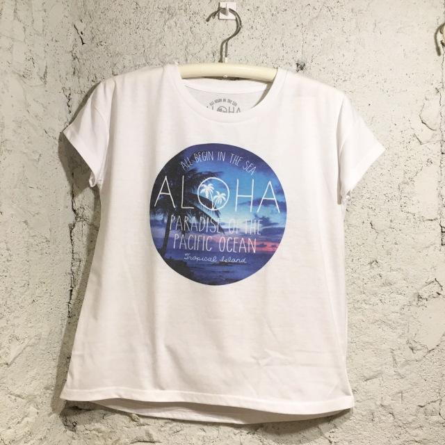 ALOHAグラフィック!ゆるTシャツ/FreeWH【ハワイアンショップ アロハラバーズ】