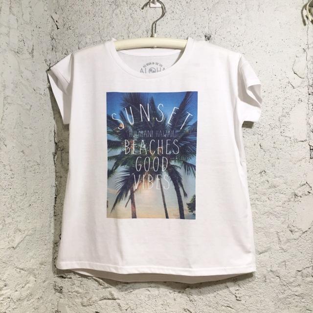 BEACHグラフィック!ゆるTシャツ/FreeWH【ハワイアンショップ アロハラバーズ】