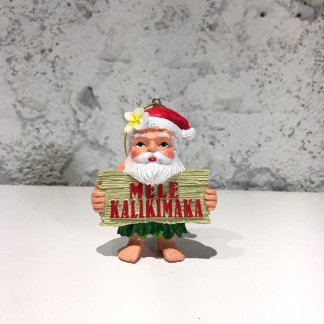 ハワイアンクリスマスオーナメント/メレカリキマカサンタ