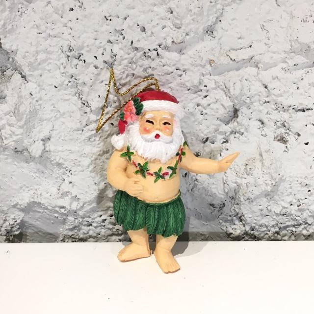 ハワイアンクリスマスオーナメント/HULAサンタ