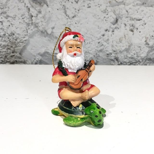 ハワイアンクリスマスオーナメント/ウクレレ サンタ
