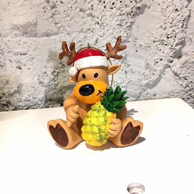 ハワイアンクリスマスオーナメント/パイナップルトナカイ