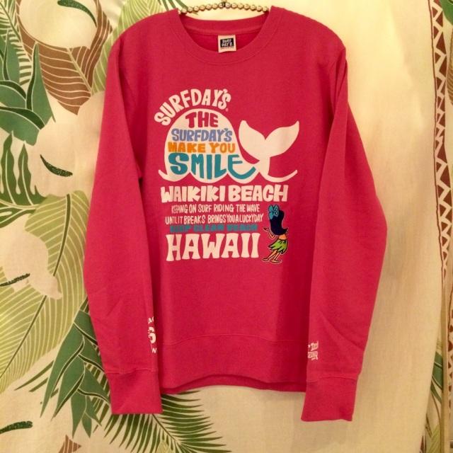 Hawaiianプリント/サーフデイズスくじらのトレーナーPRED/M/Lサイズ