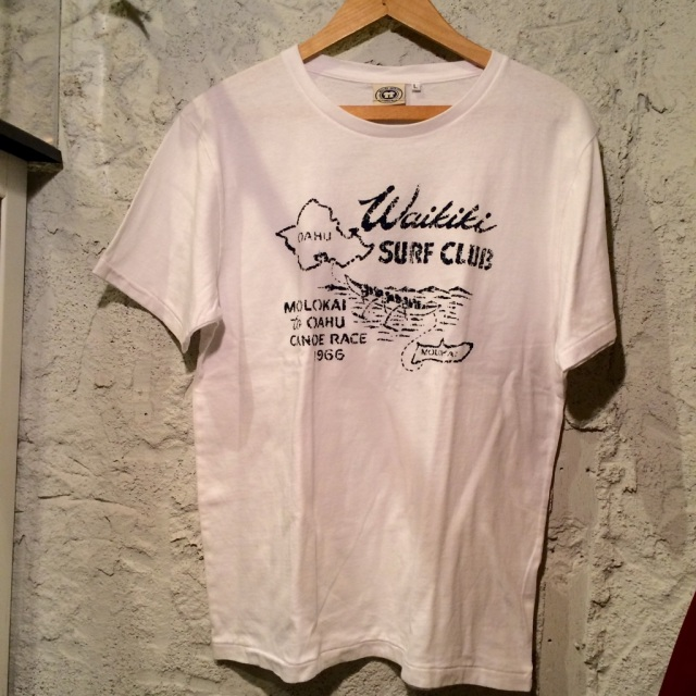 Hawaiianプリント半袖T/BL / size /L/XL