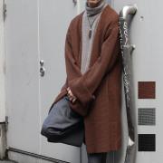 【1/23ダークグレー再入荷ブラック新規入荷!】【セール】【SamuraiELO2月号雑誌掲載】【新着】Cuirs(キュイー)メンズニット オリジナルオーバーサイズロングコーディガン新作デザイン