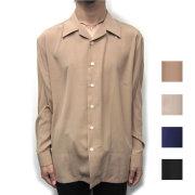 【再入荷】【新着】Cuirs(キュイー)メンズシャツ オリジナルサテンオープンシャツ新作デザイン