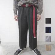 【SamuraiELO6月号5月号雑誌掲載】【新着】Cuirs(キュイー)メンズスラックス  オリジナルセンタープリーツワイドパンツ新作デザイン