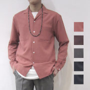 【SamuraiELO6月号雑誌掲載】【新着】Cuirs(キュイー)メンズシャツ  オリジナルオープンカラーシャツ新作デザイン