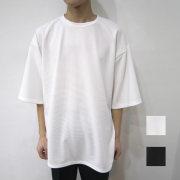 【新着】Cuirs(キュイー)メンズシャツ オリジナルモノトーンハーフスリーブビックTシャツ新作デザイン