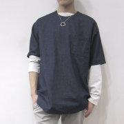 【新着】Cuirs(キュイー)メンズシャツ オリジナルプルオーバーデニムハーフスリーブシャツ新作デザイン