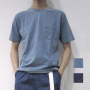 【新着】Cuirs(キュイー)メンズTシャツ インディゴコットンTシャツ新作デザイン