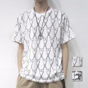 【新着】Cuirs(キュイー)メンズTシャツ 総柄プリントTシャツ新作デザイン