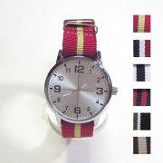 【新色入荷!】【再入荷】【SamuraiELO4月号11月号雑誌掲載】【新着】Cuirs(キュイー)メンズ腕時計 ナイロンカラーベルトデザインウオッチ 新作デザイン