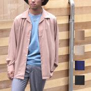 【SamuraiELO6月号5月号FINEBOYSRookiesVol1雑誌掲載】【再入荷】【新着】Cuirs(キュイー)メンズシャツ オリジナルサテンオープンシャツ新作デザイン