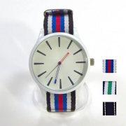 【新着】Cuirs(キュイー)メンズ腕時計 ホワイトケースナイロンカラーベルトデザインウオッチ 新作デザイン