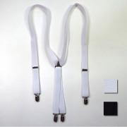 【新着】Cuirs(キュイー)メンズサスペンダー レギュラー巾モノトーンサスペンダー 新作デザイン