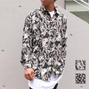 【新色追加!】【再入荷】【新着】Cuirs(キュイー)メンズシャツ オリジナル総柄ドルマンスリーブシャツ 新作デザイン