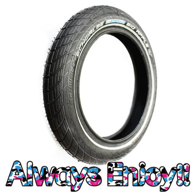 【ストライダーカスタム】<追加入荷> SCHWALE ( シュワルベ ) 1番人気のBIG APPLEタイヤセット(12インチ) ※チューブは付属しておりません。チューブは別商品にてご紹介。<第1弾入荷分残り僅か!>