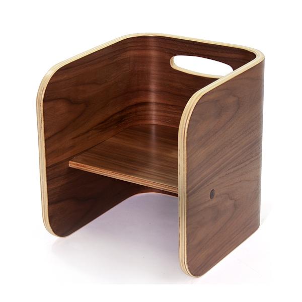 【COLO COLO Chair & Desk】天然木のブナ材を使用したベビー用の椅子と子供机 デスク color:ブラックウォールナット ベビーチェア