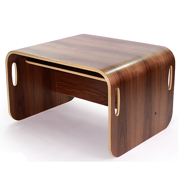 【COLO COLO Chair & Desk】天然木のブナ材を使用したベビー用の椅子と子供机 デスク color:ブラックウォールナット