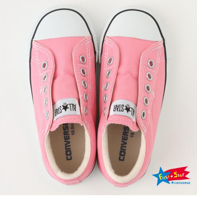 【converse(コンバース)】 CHILD ALL STAR SLIP OX/ ピンク (チャイルド オールスター スリップ OX) キッズスリッポン