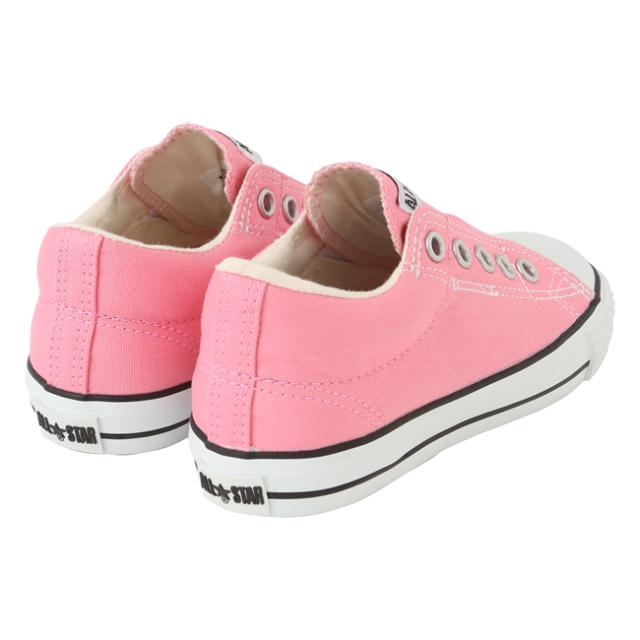 【converse(コンバース)】 CHILD ALL STAR SLIP OX/ ピンク (チャイルド オールスター スリップ OX) キッズスリッポン ピンク