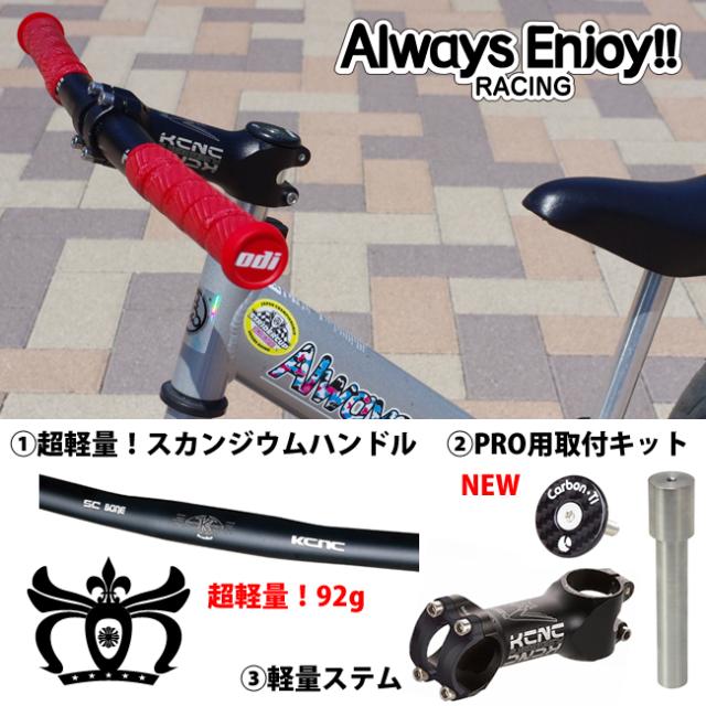 <予約商品>【Always Enjoy!! Racing Style】超軽量!スカンジウムハンドルセット(ハンドル重量:92g)軽くてもってびっくり!<STRIDER PRO専用> 【ストライダーカスタム】