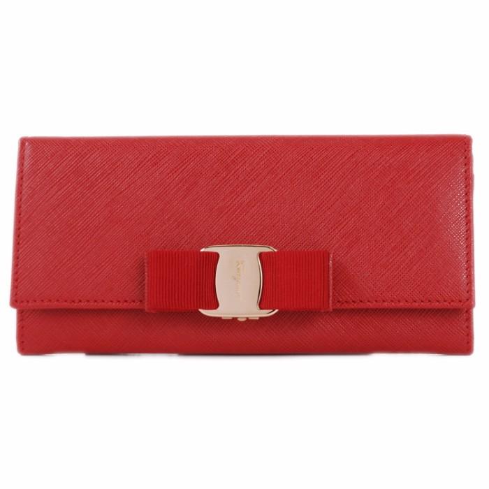 フェラガモ FERRAGAMO サイフ さいふ 二つ折り長財布 型押しカーフスキン 22B559 0007 0139
