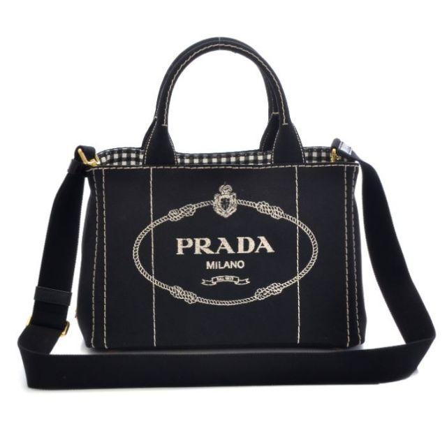 プラダ PRADA 2017年春夏新作 バッグ BAG 2WAYトートバッグ キャンバス 1BG439 ZKIOOX 002