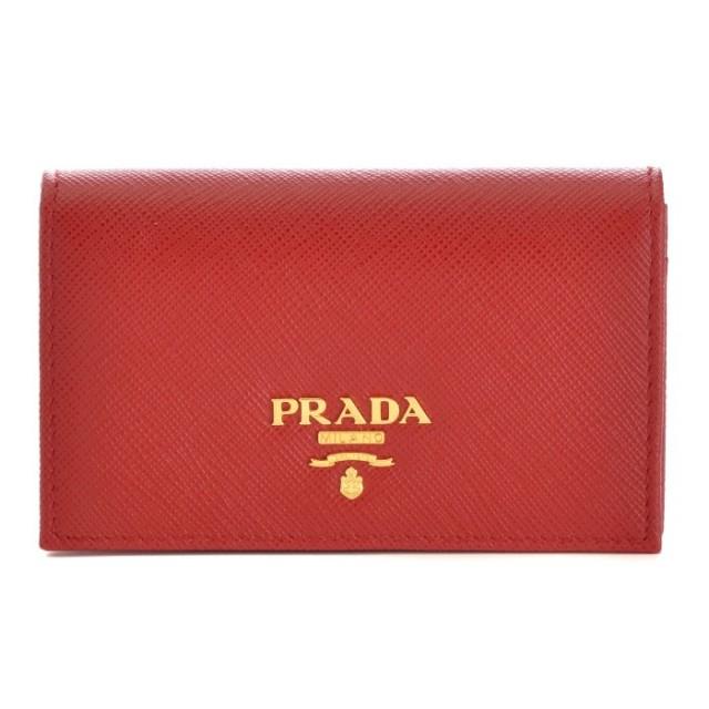 プラダ PRADA 2017年春夏新作 サフィアーノレザー カードケース 1MC122 QWA 011