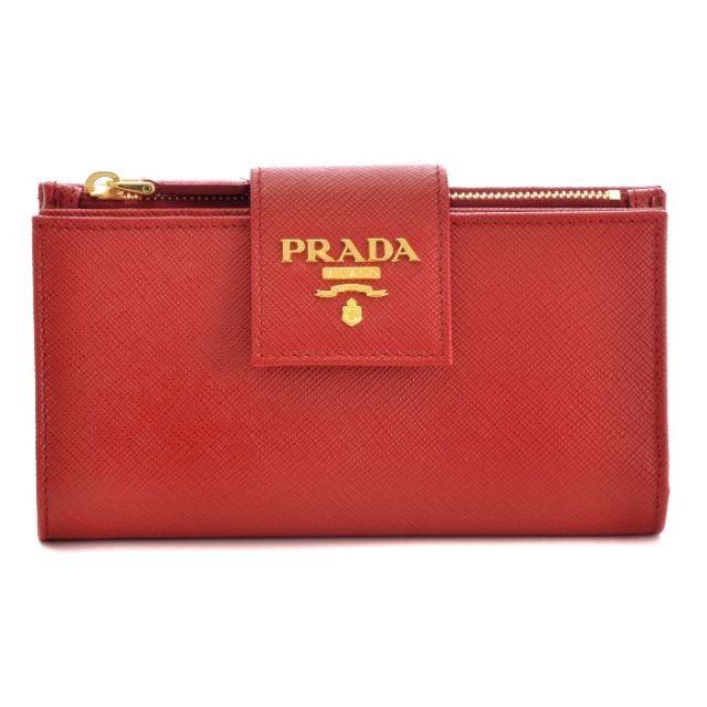 プラダ PRADA 2017年春夏新作 型押しカーフスキン サフィアーノ  二つ折り財布 1ML005 QWA 011