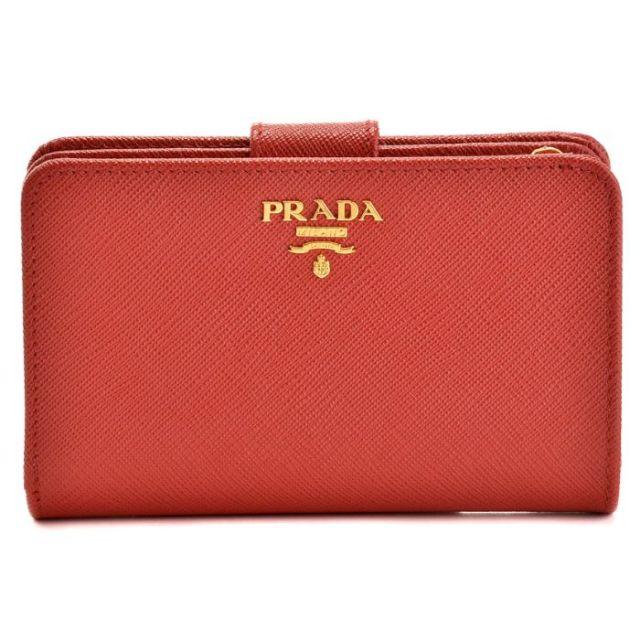 プラダ PRADA 2017年春夏新作 型押しカーフスキン 二つ折り財布 1ML225 QWA 011