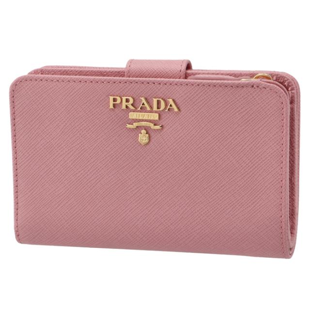プラダ PRADA 2017年春夏新作 サフィアーノレザー 型押しカーフスキン 二つ折り財布 1ML225 QWA 442