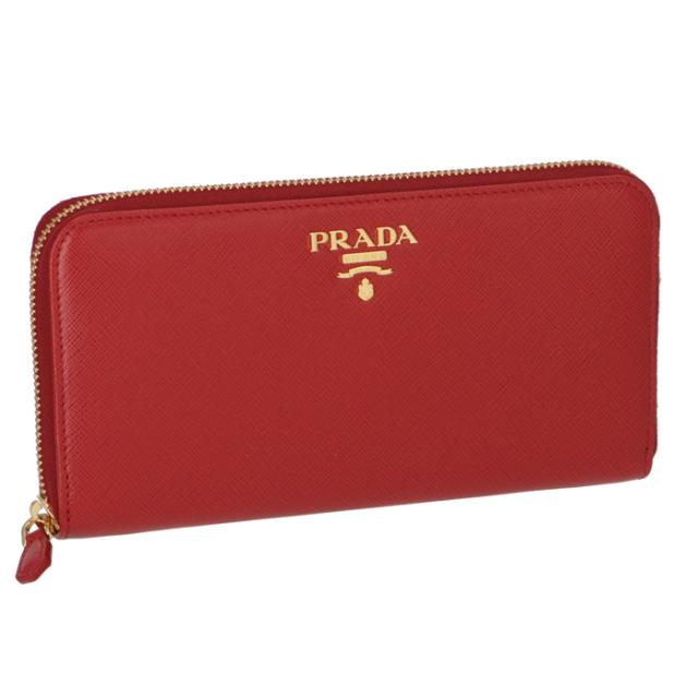 プラダ PRADA サイフ さいふ ラウンドファスナー長財布 型押しカーフスキン 1ML506 QWA 68Z