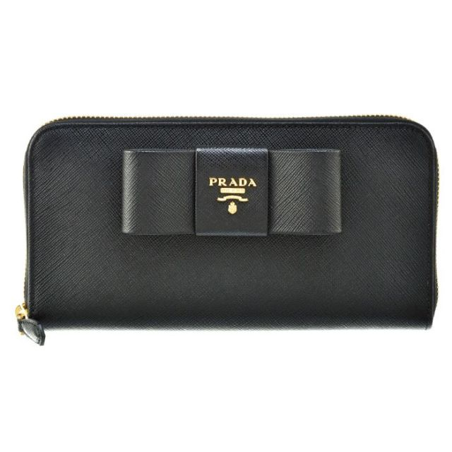 プラダ PRADA サイフ さいふ ラウンドファスナー長財布 型押しカーフスキン 1ML506 ZTM 002