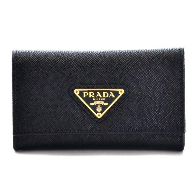 プラダ PRADA 2017年春夏新作 小物入れ 6連キーケース 型押しカーフスキン 1PG222 QHH 002