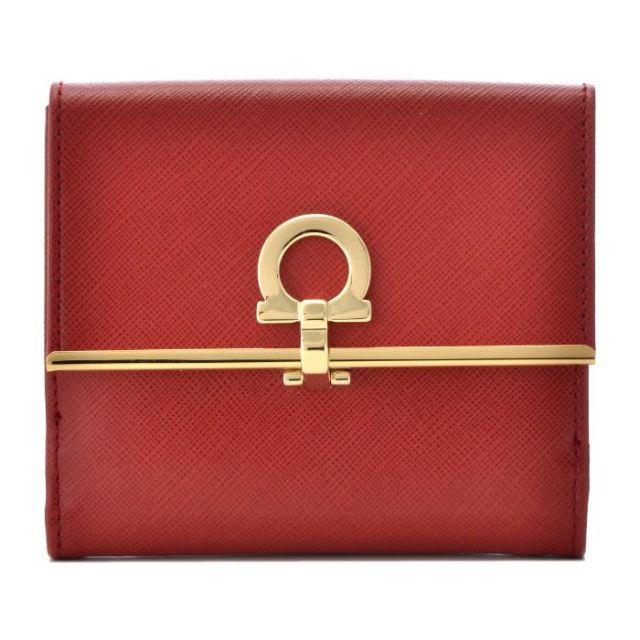 フェラガモ FERRAGAMO サイフ さいふ 二つ折り財布 型押しカーフスキン 224639 0007 0022