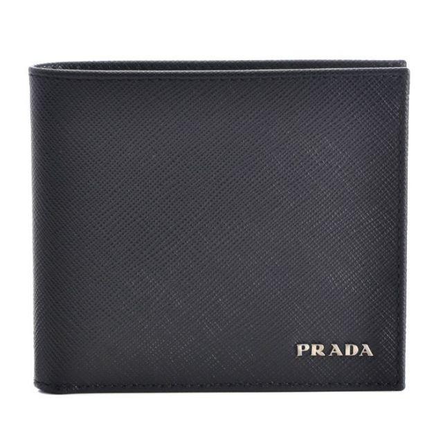 プラダ PRADA 2017年春夏新作 SAFFIANO サフィアーノ カーフスキン メンズ 二つ折り財布 2MO738 C5S G52