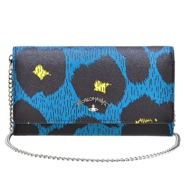 ヴィヴィアン ウエストウッド Vivienne Westwood サイフ さいふ チェーン付き二つ折り長財布 PVC 321220 0031 0044【xmas-vivi】