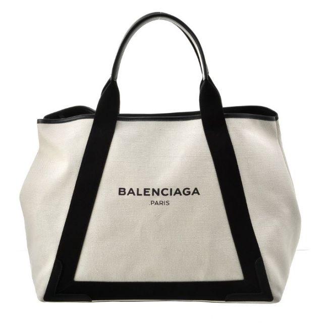 バレンシアガ BALENCIAGA バッグ BAG トートバッグ NAVY CABAS M 339936 AQ38N 1081