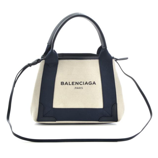 バレンシアガ BALENCIAGA バッグ BAG 2WAYハンドバッグ NAVY CABAS XS 390346 AQ38N 4081